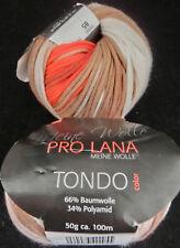 (9,90 €/100 g): 150 g TONDO, Bändchen im Verlauf, ProLana Fb.85  mit lachs #2477