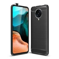 Xiaomi Poco F2 Pro Handy Hülle Silikon Case Schutzhülle Cover Etui Carbon Farben