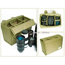 Large Waterproof Camera Padded Protect Bag Insert Partition Case Fit 1DSLR 4Lens