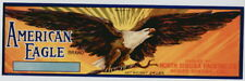 AMERICAN EAGLE Vintage Dinuba, Fruit Crate Label, Bald, Bird, AN ORIGINAL LABEL!