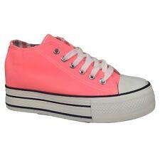 Scarpe Donna 39 Color Anguria Ginnastica Sportive Sneakers con Zeppa Interna