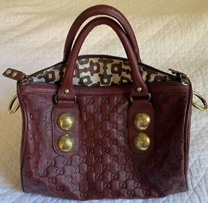 Gucci Cherry Leather Babouska  Handbag