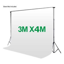 Photography 3*4m Muslin Cotton Chromakey Backdrop Studio Fabric Background WHITE