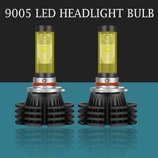 Dual Color 2x 9005 HB3 LED Headlight Bulbs High Beam 1800W 300000LM HID X4-Black