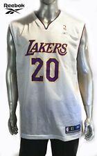 NBA Reebok Lakers Gary Payton # 20 Basketball Jersey ( White ) XL