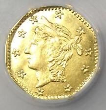 1865 California Gold Liberty Wreath Token - NGC MS65 (Gem BU) - Rare Grade!