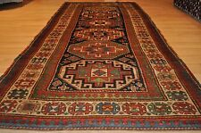 Antique Caucasian Moghan Kazak circa 1850's authentic vintage 4'x10' ft. 19th c.