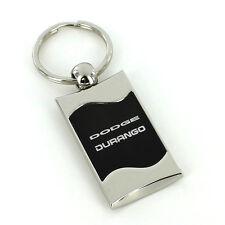Dodge Durango Black Spun Brushed Metal Key Ring