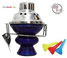 Blue Stainless Steel Hookah Wind Cover Bowl Charcoal Coal Metal Shisha Screen