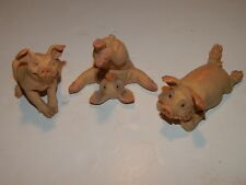 Pig figures.Pigtail ornaments. Three Pigtails, collectable Pigtails.