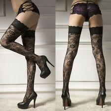Sexy Lingerie Women Stockings Lace Sheer Top Thigh Highs Socks Pantyhose Hold Up