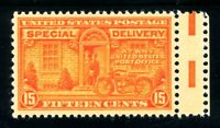 USAstamps Unused VF-XF US Special Delivery With Side Gutter Scott E16 OG MNH