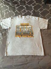 Iowa Hawkeye Football T-Shirt, Large