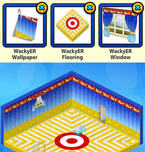 2014/15 Webkinz 3-pc WackyER Zingoz Prize Bundle: Wallpaper & Flooring & Window