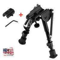 """6""""-9"""" Tactical Rifle Bipod Adjustable Spring Return with Adapter US STOCK"""