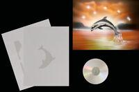 Airbrush Schablone Step by Step / Stencil / Tiere / 0634 Delfin/Landschaft & CD