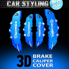 Hot 4pcs Blue Disc Brake Caliper Covers Kit 3D Styling Front & Rear For Jeep