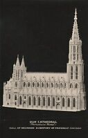 (F) 1933 Chicago World's Fair - Century of Progress - Model of ULM Cathedral