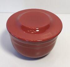 New listing Emile Henry Red Butter Bell Crock 16.10 Modele Depose France