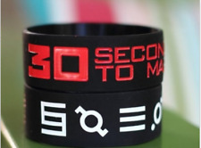 """SET OF 2 - 30 SECONDS TO MARS SILICONE WRISTBAND BRACELET 1"""" WIDE UK SELLER"""