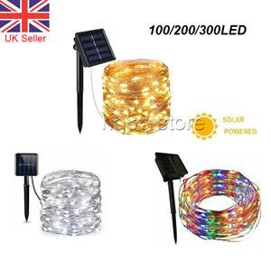 10M 20M 30M LED Solar String Lights Waterproof Copper Wire Fairy Outdoor Garden