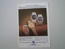 advertising Pubblicità 1979 SEIKO QUARTZ GIORNO-DATA