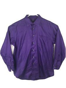Pronto Uomo Men's Long Sleeve Dress Shirt  Non Iron 100% Cotton,