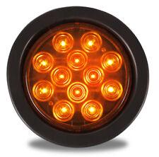 4 Inch Round Led Strobe Light Set-  Amber