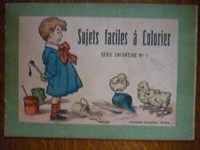 Sujets faciles à colorier, série enfantine N°1/ Imagerie Pellerin Epinal