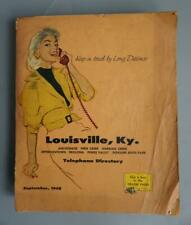 Telephone Directory Louisville Kentucky 1958 Yellow Pages Original Vintage