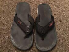 Mens Quicksilver Black Flip Flops Size UK 10 Used