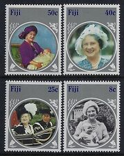 1985 FIJI LIFE & TIMES OF THE QUEEN MOTHER SET OF 4 FINE MINT MNH/MUH