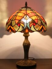 Tiffany Style Table Lamp Handcrafted Bedside Lamps Desk Light Glass Stained Art