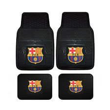 New 4pc FC Barcelona Football Car Truck Front Rear All Weather Rubber Floor Mats