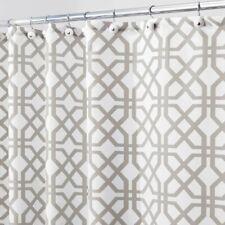 pottery barn terri trellis shower curtain 72 x 72 cotton NEUTRAL