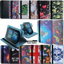 For Linx 7 8 10 inch Tablet - Folio Leather Rotating Stand Cover Case + Stylus