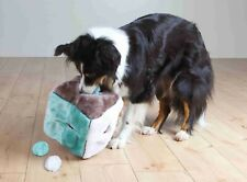 Soft Plush Activity Cube / 4 Play Balls Toy Can Also Be Filled With Dog Treats