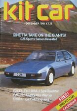 Kit Car magazine 12/1984 featuring Ginetta G26, Warwick Peerless, Whitby Warrior
