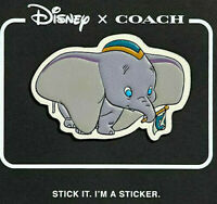 DISNEY x COACH Dumbo The Elephant Movie LEATHER STICKER Patch LIMITED EDITION
