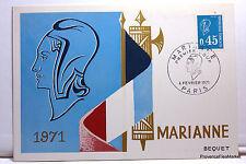 Yt1663 MARIANNE DE BEQUET   CPA MAXIMUM POSTCARD  CARTE 1° JOUR FRANCE