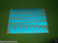 Reflective BLUE Safety Decals Stickers Bike frame helmet reflective