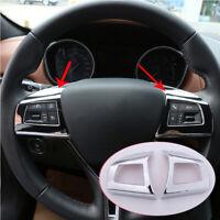 Chrome Steering Wheel Button Frame Cover Trim for Maserati Levante Ghibli 2016