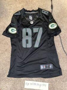 Jordy Nelson Green Bay Packers Women's Nike On Field Jersey Large Black (8301)