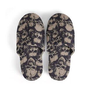 Cool Skull Warm Slippers Men Women Slippers Slip Soft Winter Warm House Shoes