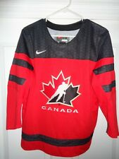 NEW Canada Red IIHF Nike Ice Hockey Embroidered Jersey Youth S/M