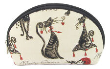 Tapestry Catitude Cosmetic Purse Cat Design by Signare Approx 20cm X 12cm