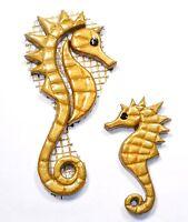 Mosaiksteine - Seepferdchen - Farbe: gelbgold -Grösse: mini oder mittel