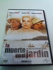 """DVD """"LA MUERTE EN EL JARDIN"""" COMO NUEVO LUIS BUÑUEL SIMONE SIGNORET CHARLES VANE"""