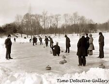 Curling in Central Park, New York City - 1900 - Historic Photo Print