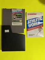 🔥💯 WORKING NINTENDO NES GAME CARTRIDGE🔥 POWER PAD 🔥 ATHLETIC WORLD COMPLETE